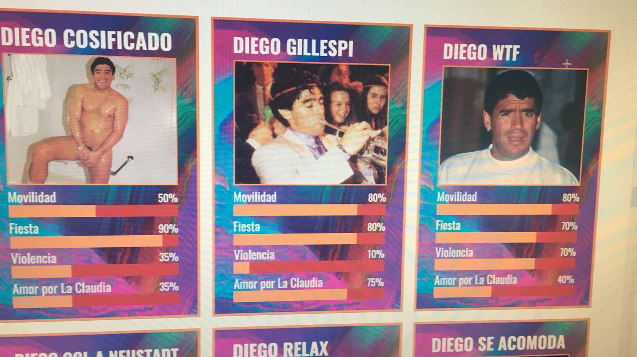 Furor por las figuritas de Diego Maradona