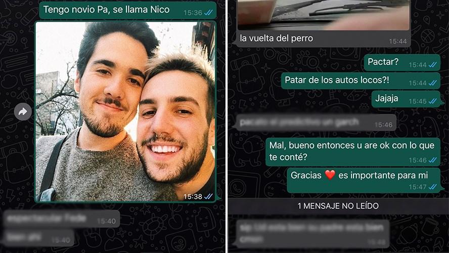 Un joven le contó a su papá que tiene novio y la respuesta se hizo viral